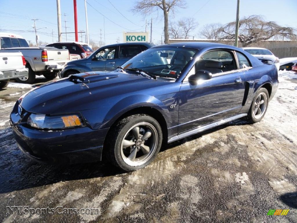 2001 ford mustang gt coupe in true blue metallic