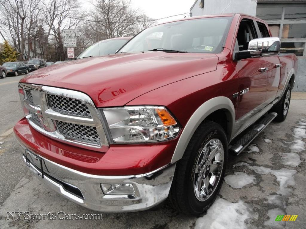 2009 dodge ram 1500 laramie quad cab 4x4 in inferno red crystal pearl 741893 nysportscars. Black Bedroom Furniture Sets. Home Design Ideas