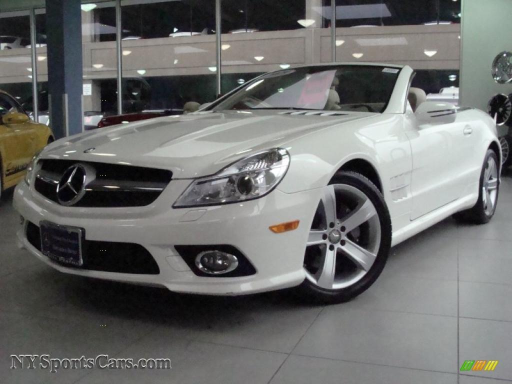 2009 mercedes benz sl 550 roadster in alabaster white. Black Bedroom Furniture Sets. Home Design Ideas