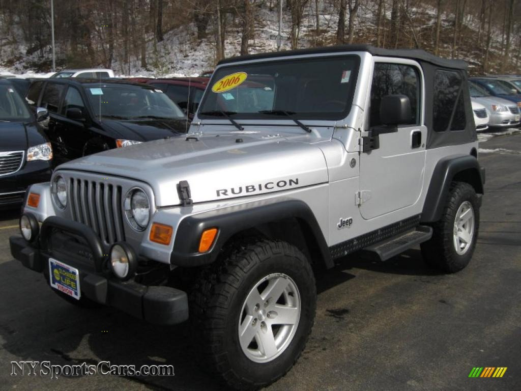 2006 jeep wrangler rubicon 4x4 in bright silver metallic. Black Bedroom Furniture Sets. Home Design Ideas