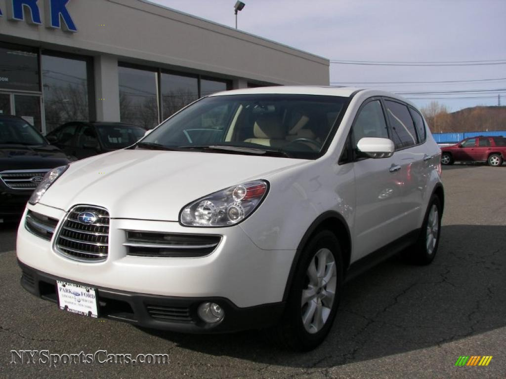 2006 Subaru B9 Tribeca Limited 7 Passenger in Satin White Pearl