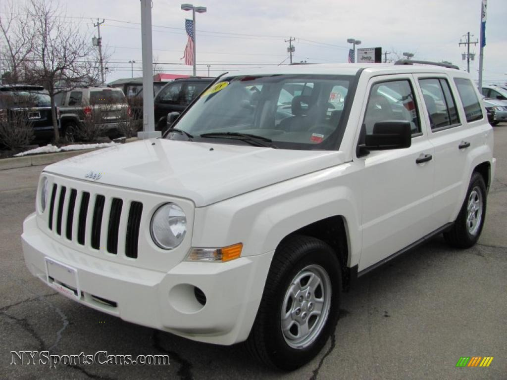 2008 jeep patriot sport in stone white clearcoat 708072. Black Bedroom Furniture Sets. Home Design Ideas