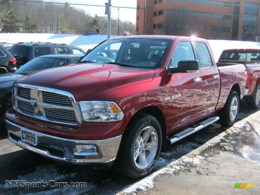 2010 dodge ram 1500 big horn quad cab 4x4 in inferno red crystal pearl 145502 nysportscars. Black Bedroom Furniture Sets. Home Design Ideas