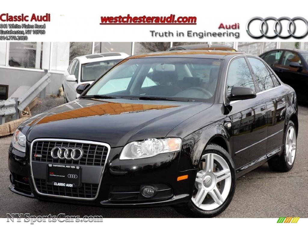 2008 audi a4 2 0t quattro s line sedan in brilliant black 112706 cars for. Black Bedroom Furniture Sets. Home Design Ideas