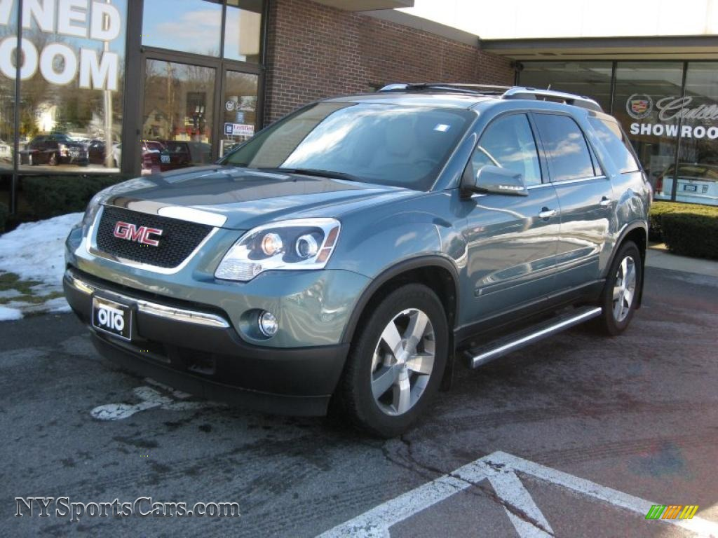 Silver green metallic light titanium gmc acadia slt awd