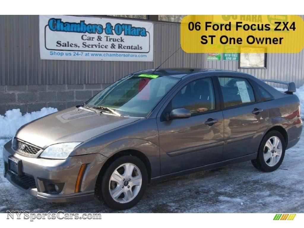 ford focus zx st sedan  liquid grey metallic