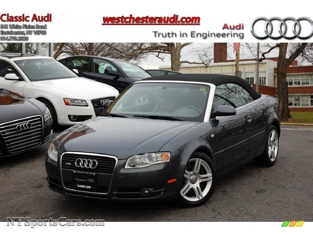 2008 audi a4 2 0t quattro cabriolet in dolphin grey. Black Bedroom Furniture Sets. Home Design Ideas