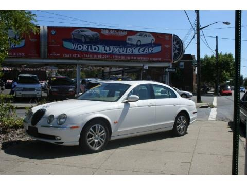 White Onyx 2003 Jaguar S-Type 4.2. White Onyx