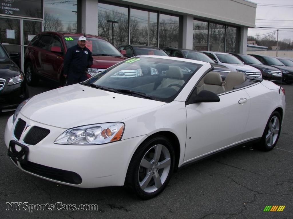 2007 pontiac g6 gt convertible in ivory white 264349 cars for sale in new. Black Bedroom Furniture Sets. Home Design Ideas