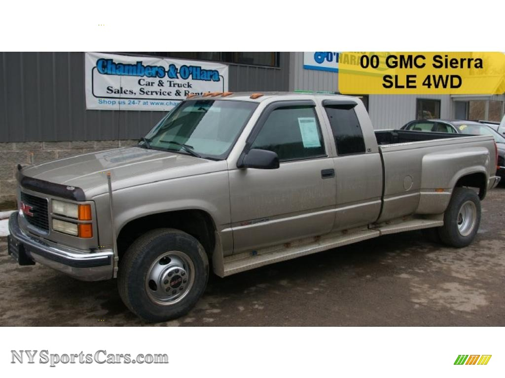 2000 Gmc Sierra 3500 Sle Extended Cab Dually In Pewter Metallic Neutral