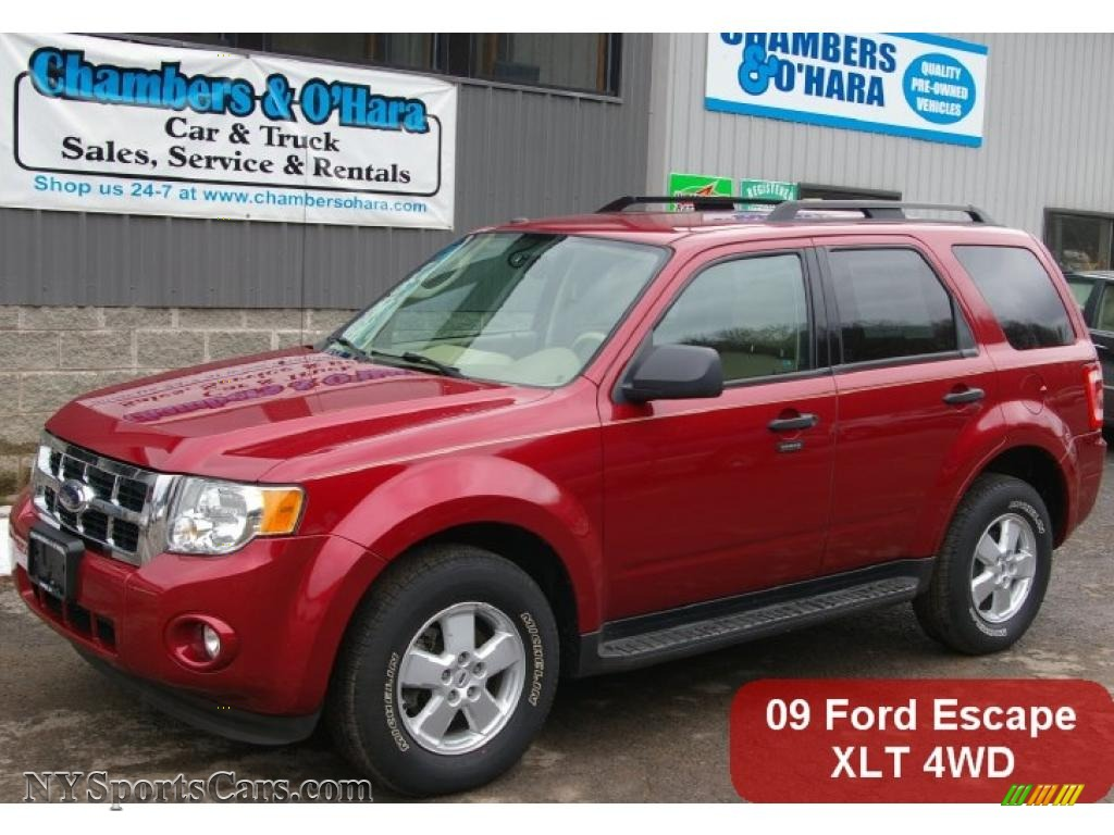 2009 Ford Escape Xlt V6 4wd In Sangria Red Metallic A56623 Nysportscars Com Cars For Sale