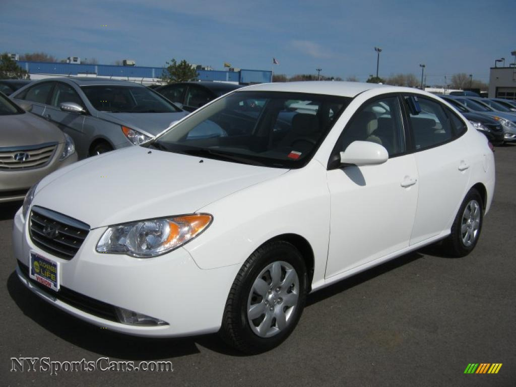 2009 Hyundai Elantra Gls Sedan In Captiva White 688884