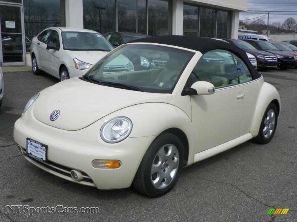 2003 Volkswagen New Beetle GLS Convertible in Harvest Moon Beige - 301268 | NYSportsCars.com ...