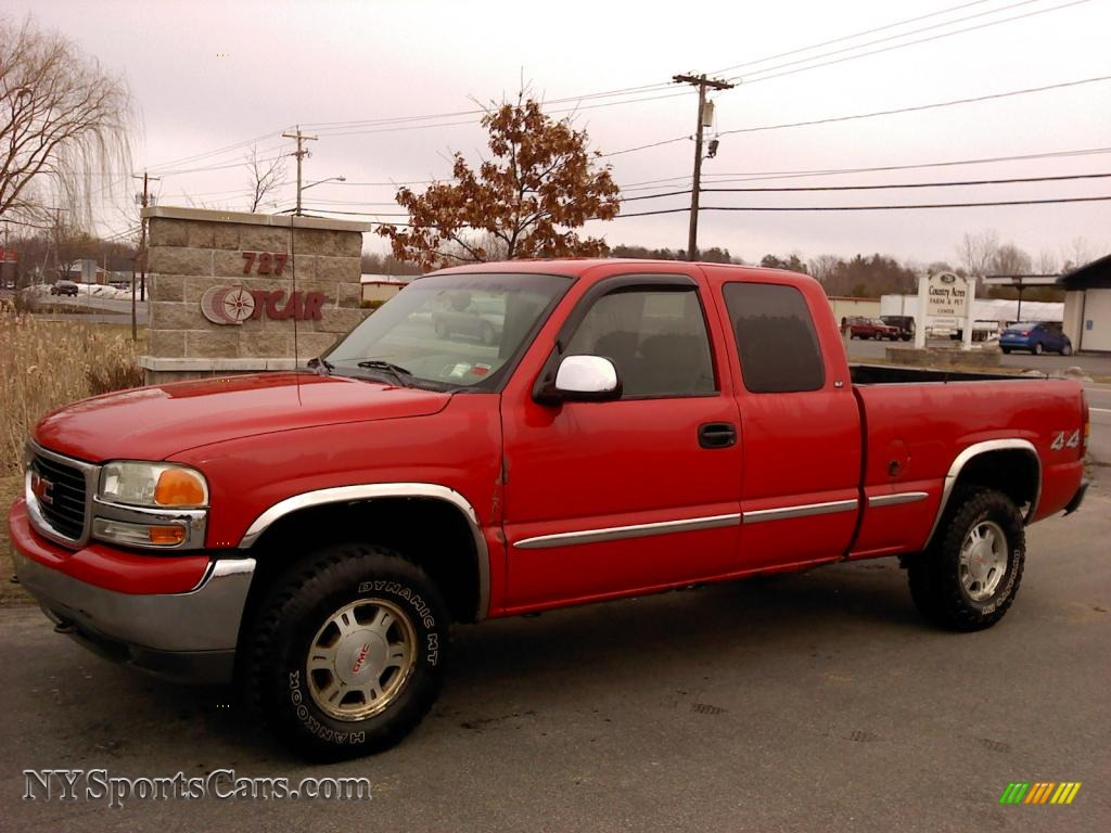Fire red pewter gmc sierra 1500 sle extended cab 4x4