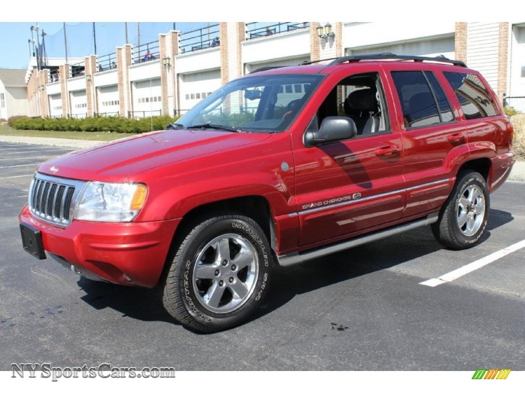 2004 jeep grand cherokee overland 4x4 in inferno red pearl 331807 cars. Black Bedroom Furniture Sets. Home Design Ideas