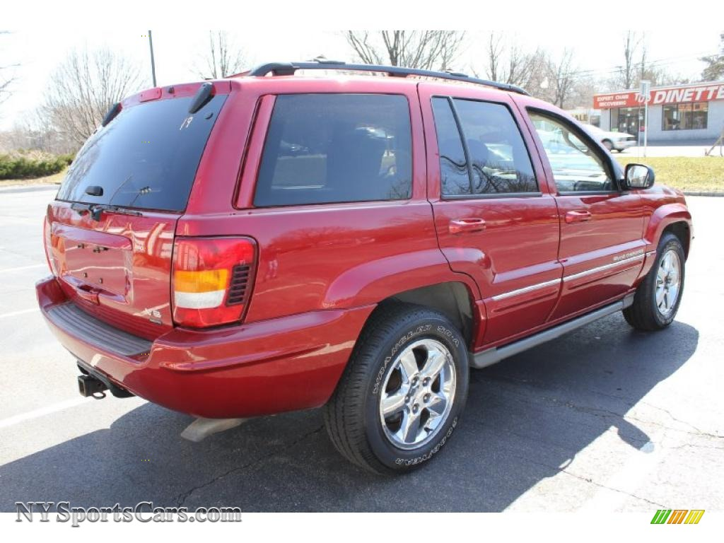 2004 jeep grand cherokee overland 4x4 in inferno red pearl photo 6 331807. Black Bedroom Furniture Sets. Home Design Ideas