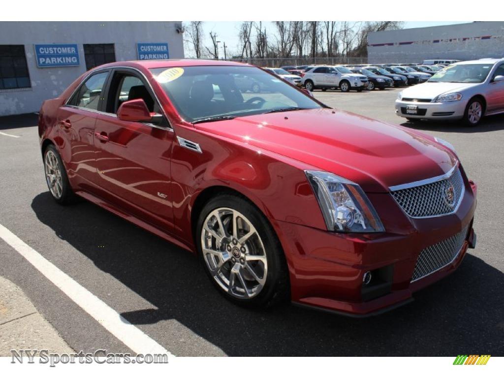 2010 cadillac cts v sedan in crystal red tintcoat photo 7 147785 cars. Black Bedroom Furniture Sets. Home Design Ideas