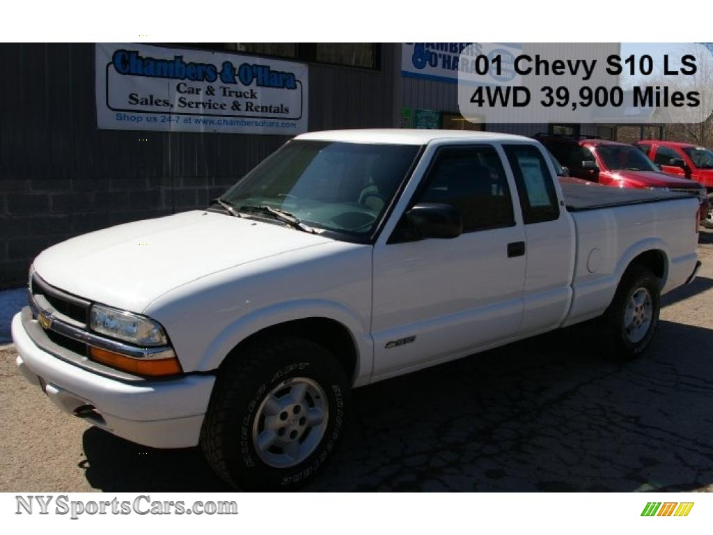 Summit white graphite chevrolet s10 ls extended cab 4x4