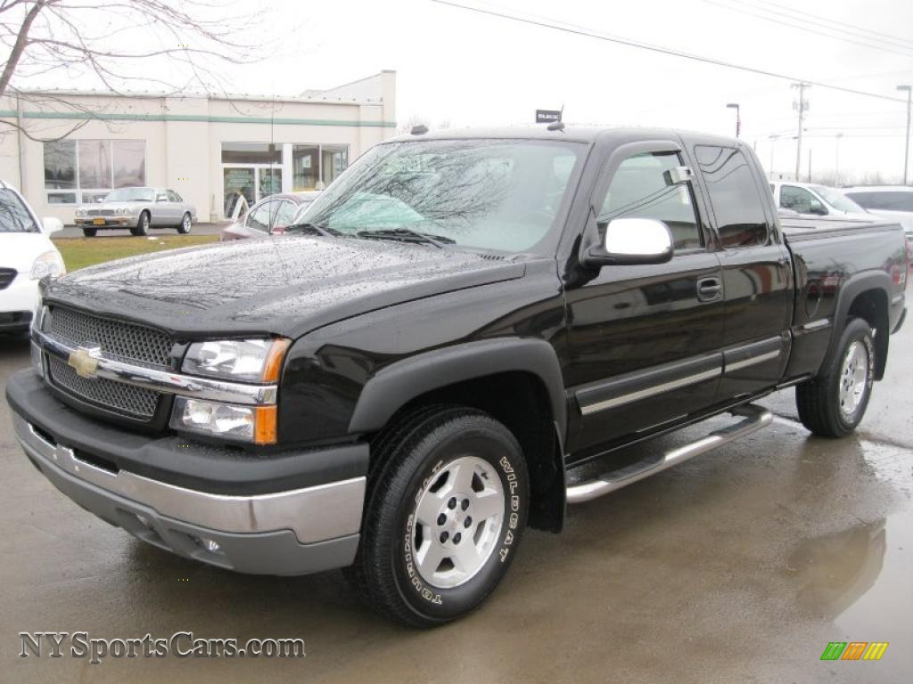 2004 Silverado 1500 Z71 Extended Cab 4x4 - Black / Dark Charcoal photo ...