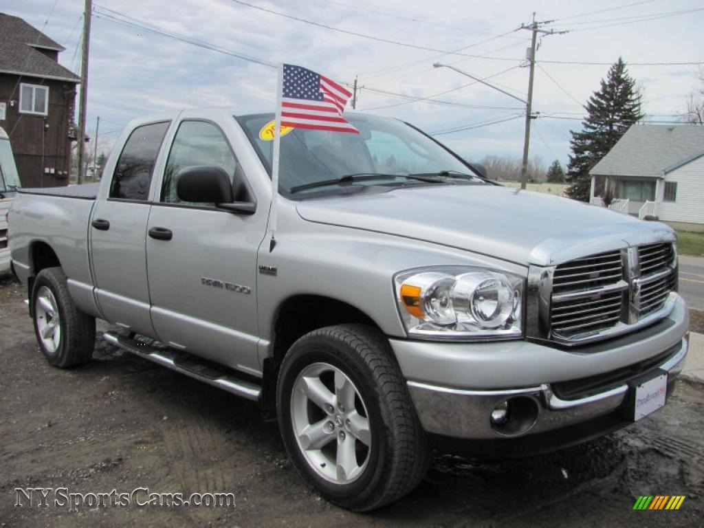 2007 dodge ram 1500 big horn edition quad cab 4x4 in bright silver metallic photo 18 198596. Black Bedroom Furniture Sets. Home Design Ideas