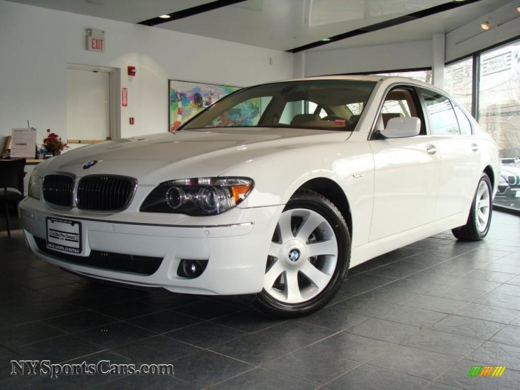 Alpine White Beige BMW 7 Series 750Li Sedan