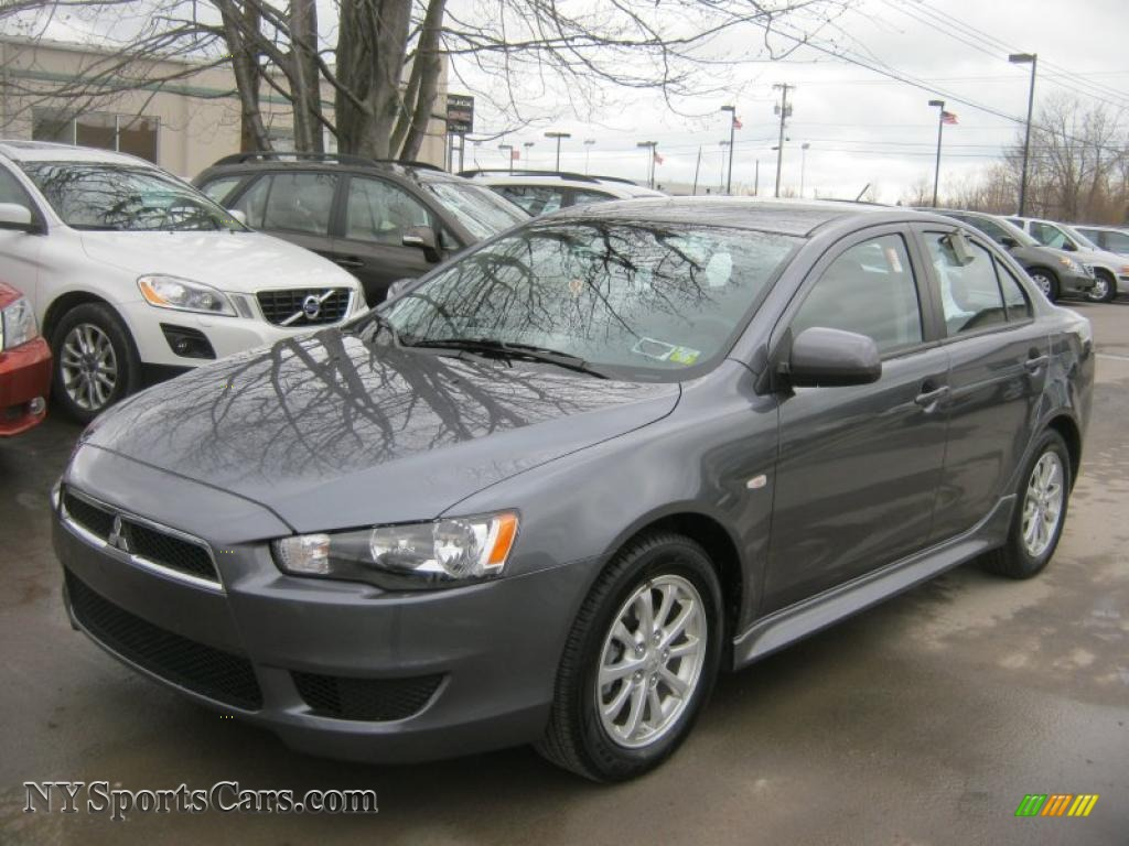 2011 Lancer ES   Graphite Gray Pearl / Black Photo #1. Mitsubishi ...