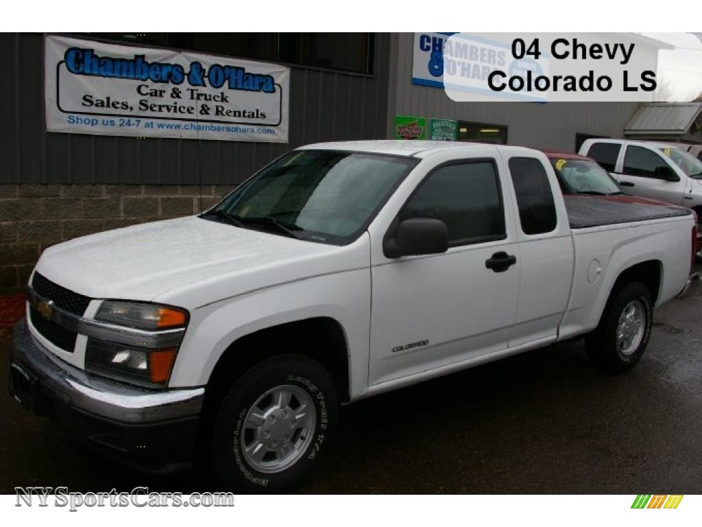 2004 Chevrolet Colorado Ls Extended Cab In Summit White
