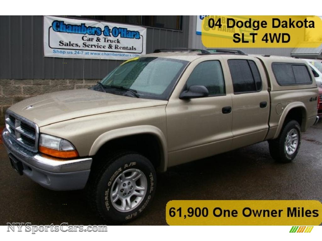 2004 dodge dakota slt quad cab 4x4 in light almond pearl. Black Bedroom Furniture Sets. Home Design Ideas