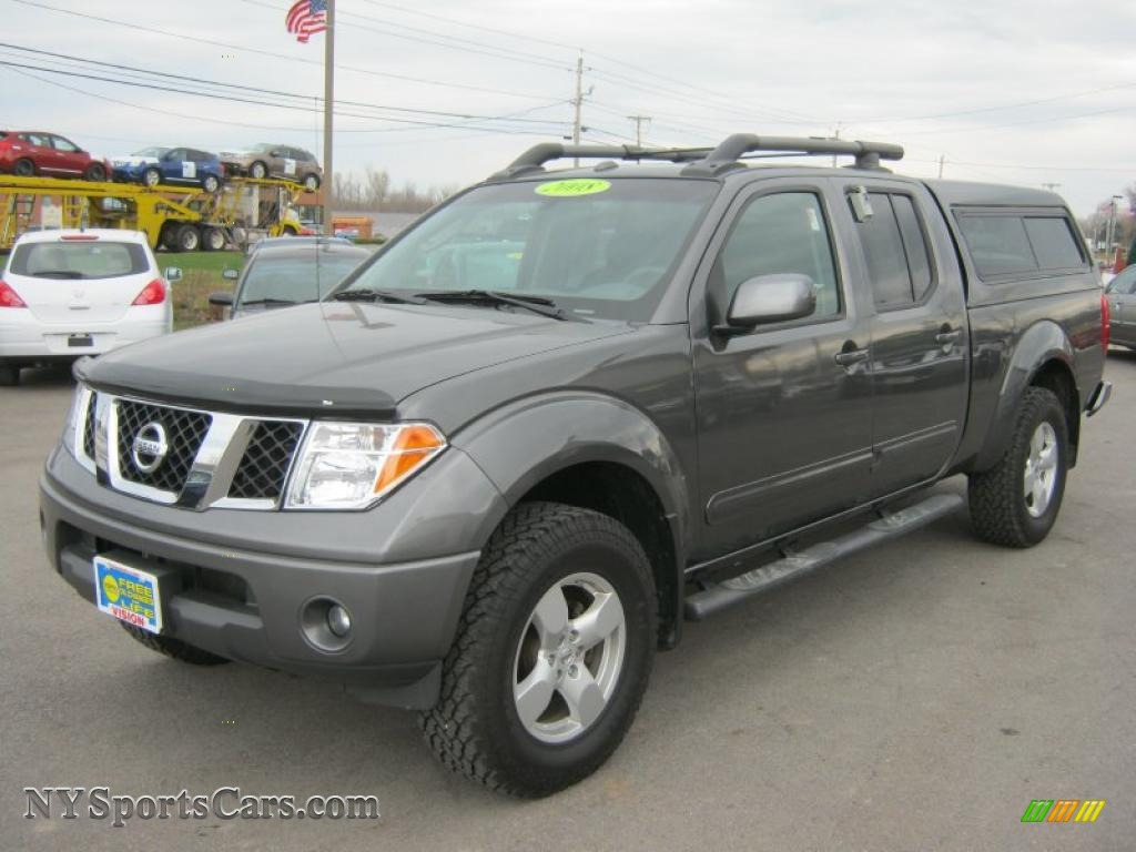 2008 nissan frontier le crew cab 4x4 in storm grey. Black Bedroom Furniture Sets. Home Design Ideas