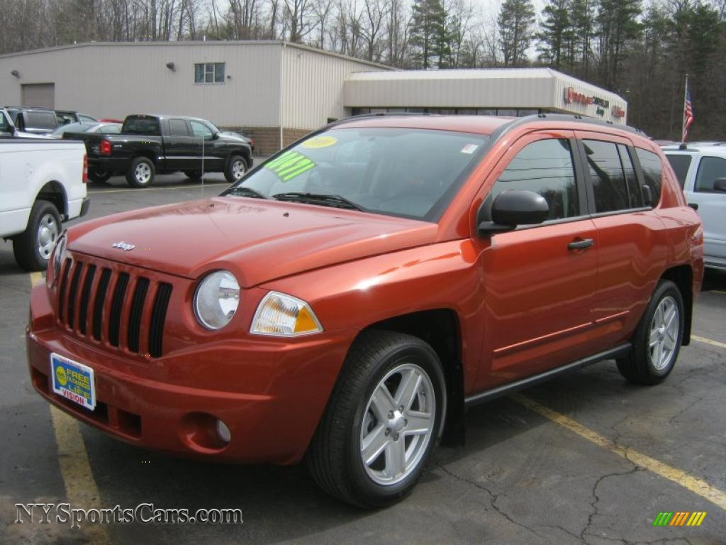 2010 Jeep Compass Sport 4x4 In Sunburst Orange Pearl