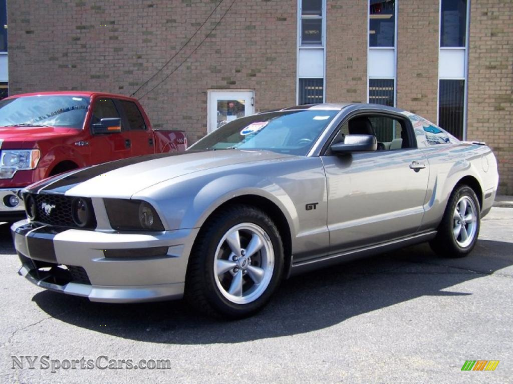 Vapor silver metallic dark charcoal ford mustang gt premium coupe