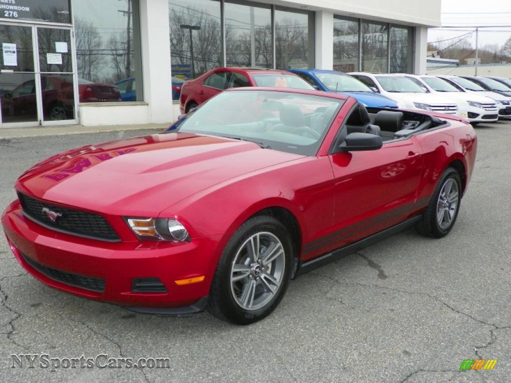 2010 ford mustang v6 premium convertible in red candy metallic photo 2 166921 nysportscars. Black Bedroom Furniture Sets. Home Design Ideas
