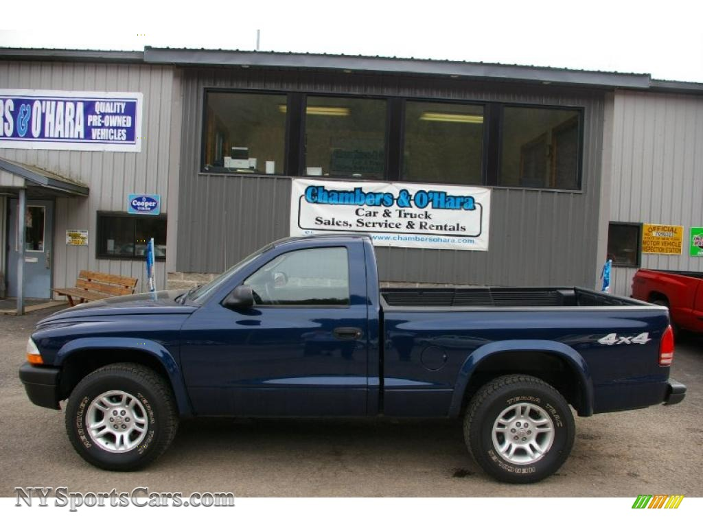2003 dodge dakota sxt regular cab 4x4 in patriot blue. Black Bedroom Furniture Sets. Home Design Ideas