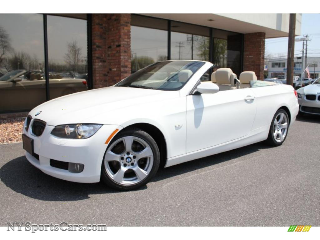 Alpine White Cream Beige BMW 3 Series 328i Convertible