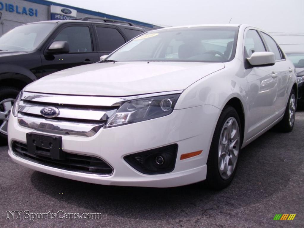 2010 Ford Fusion Se In White Suede 377770 Nysportscars