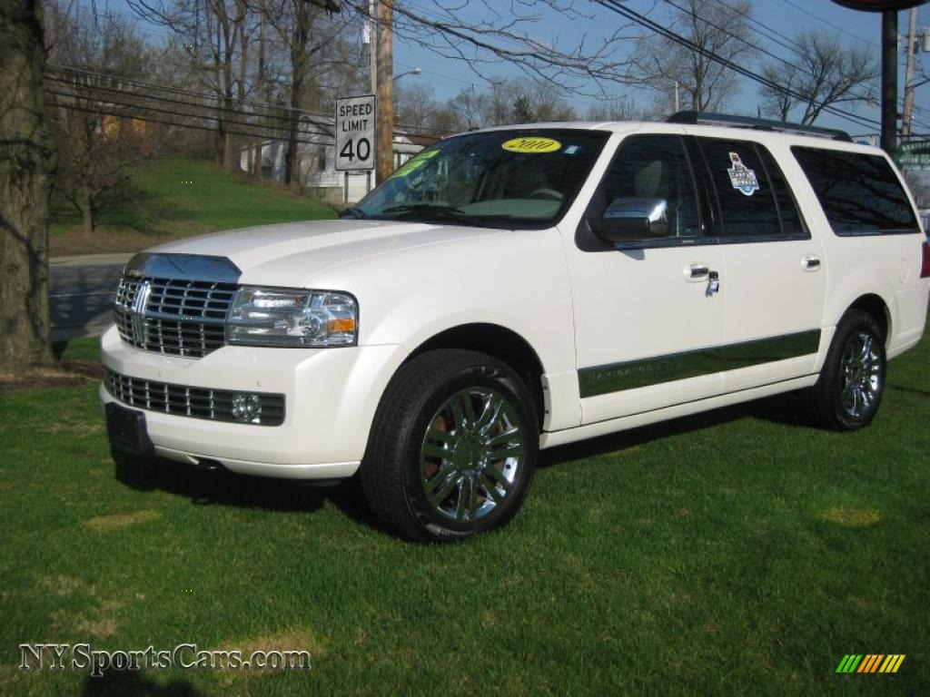 2010 Lincoln Navigator L 4x4 in White Platinum Metallic Tri-Coat - J08968 | NYSportsCars.com ...
