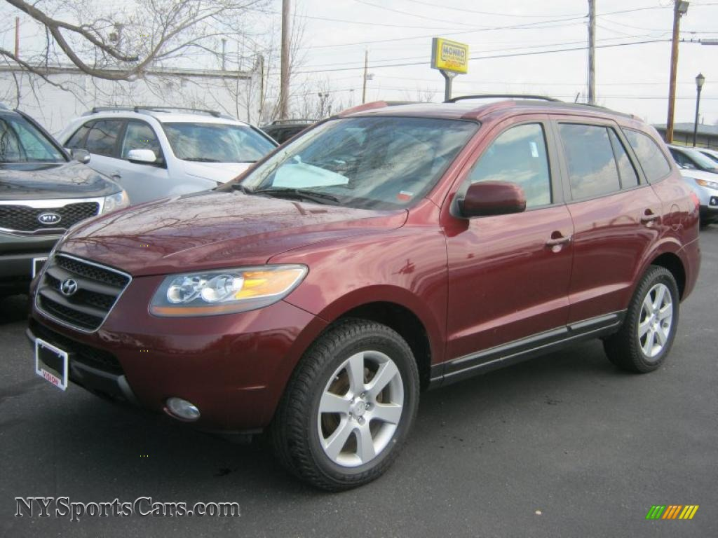 2007 hyundai santa fe limited 4wd in dark cherry red. Black Bedroom Furniture Sets. Home Design Ideas