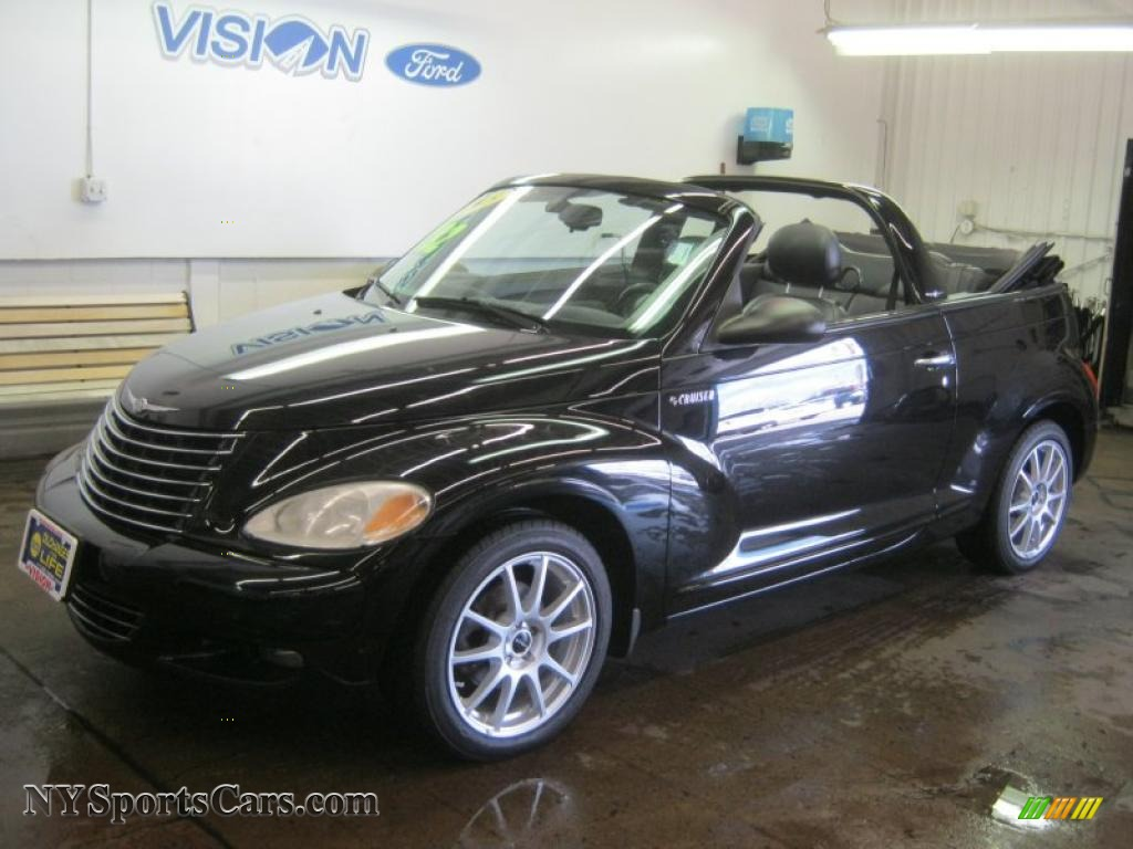 2005 Chrysler Pt Cruiser Gt Convertible In Black 286087 Nysportscars Com Cars For Sale In