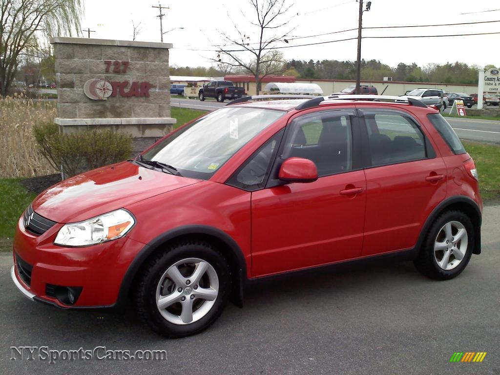 2008 Suzuki Sx4 Crossover Touring Awd In Vivid Red