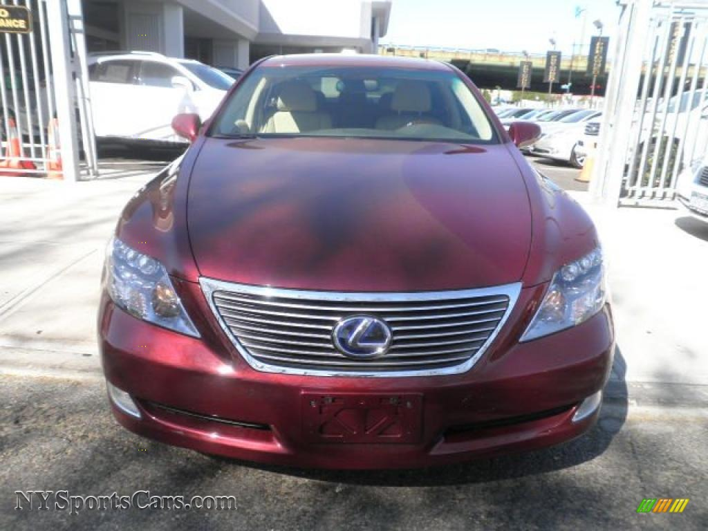 2008 lexus ls 600h l hybrid in noble spinel red mica photo. Black Bedroom Furniture Sets. Home Design Ideas