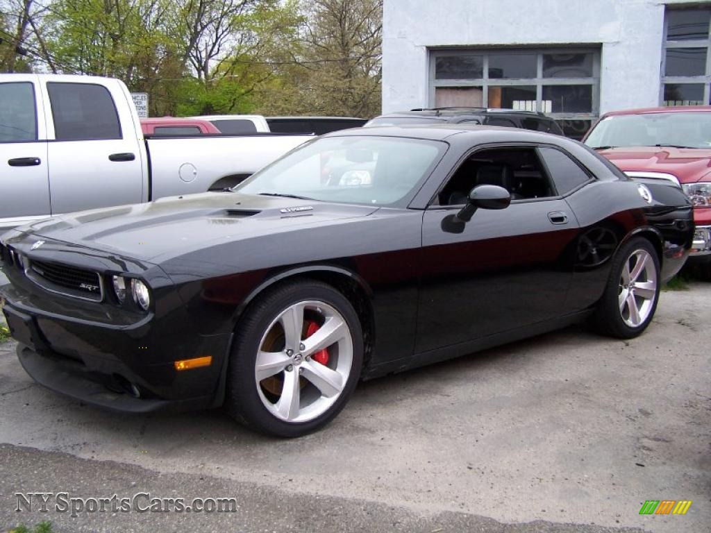 Brilliant black crystal pearl coat dark slate gray dodge challenger srt8