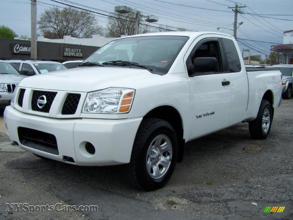 2005 nissan titan xe king cab 4x4 in white 554121 cars for sale in new york. Black Bedroom Furniture Sets. Home Design Ideas