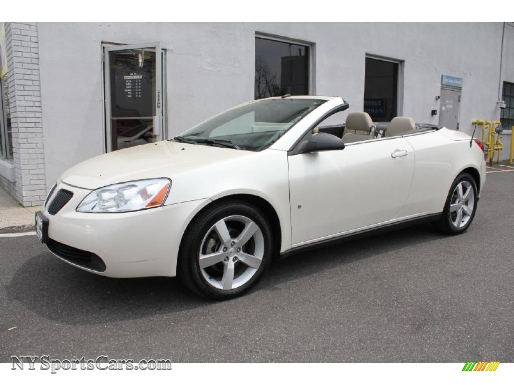2008 Pontiac G6 Gt Convertible In White Diamond Tri Coat