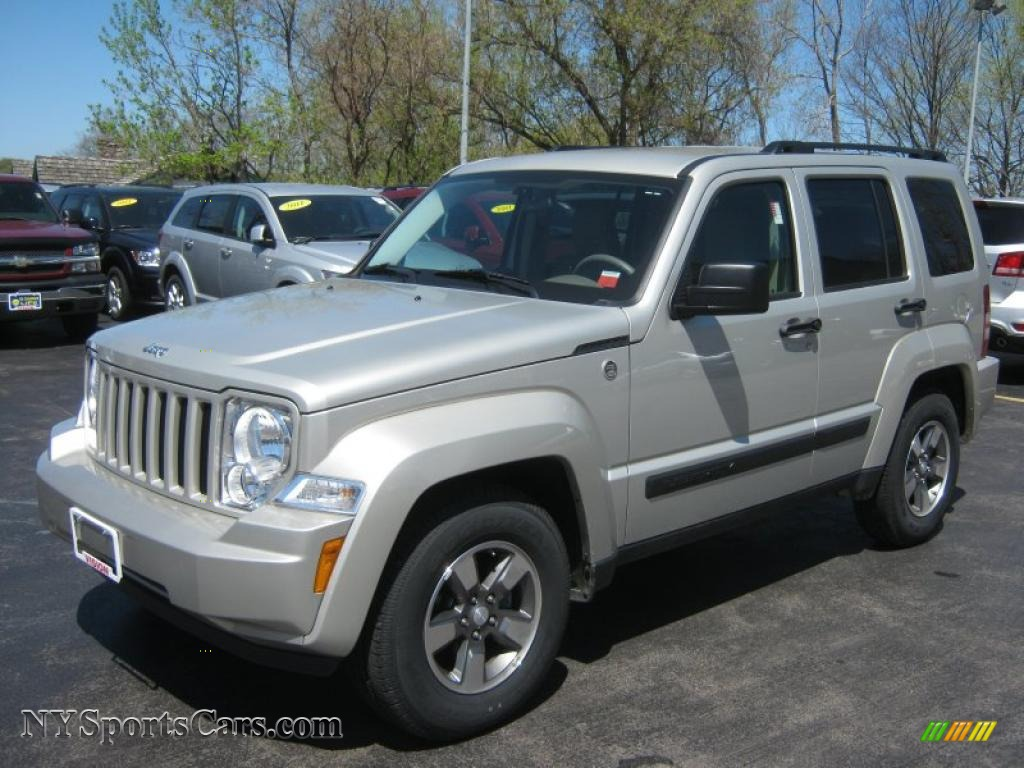 2008 jeep liberty sport 4x4 in bright silver metallic 229731 cars for. Black Bedroom Furniture Sets. Home Design Ideas