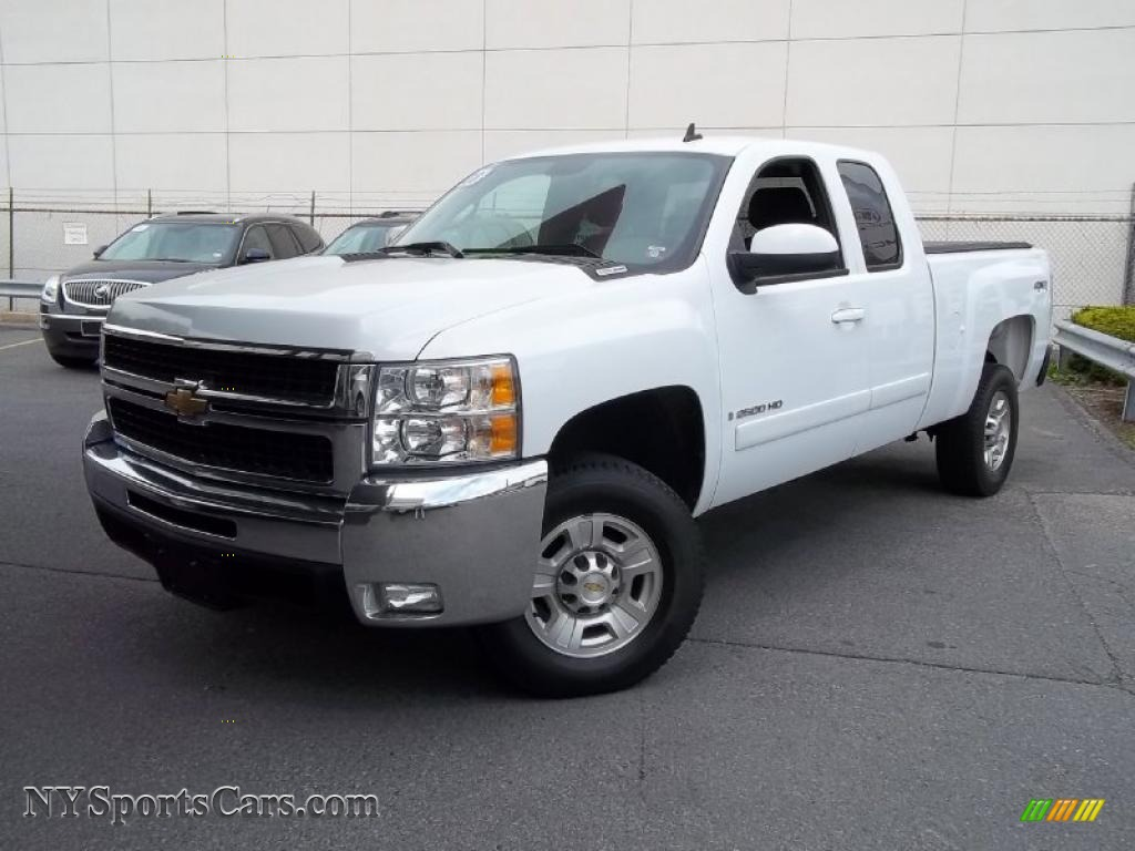 2008 chevrolet silverado 2500hd ltz extended cab 4x4 in summit white 121976. Black Bedroom Furniture Sets. Home Design Ideas