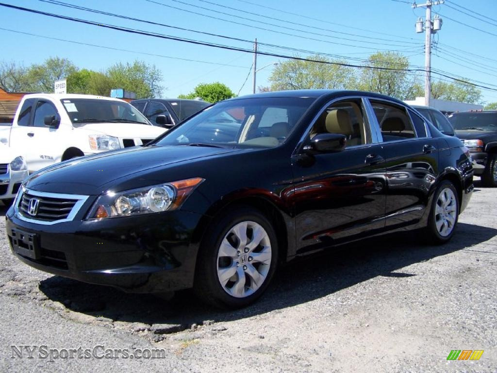 2009 honda accord ex l sedan in crystal black pearl. Black Bedroom Furniture Sets. Home Design Ideas