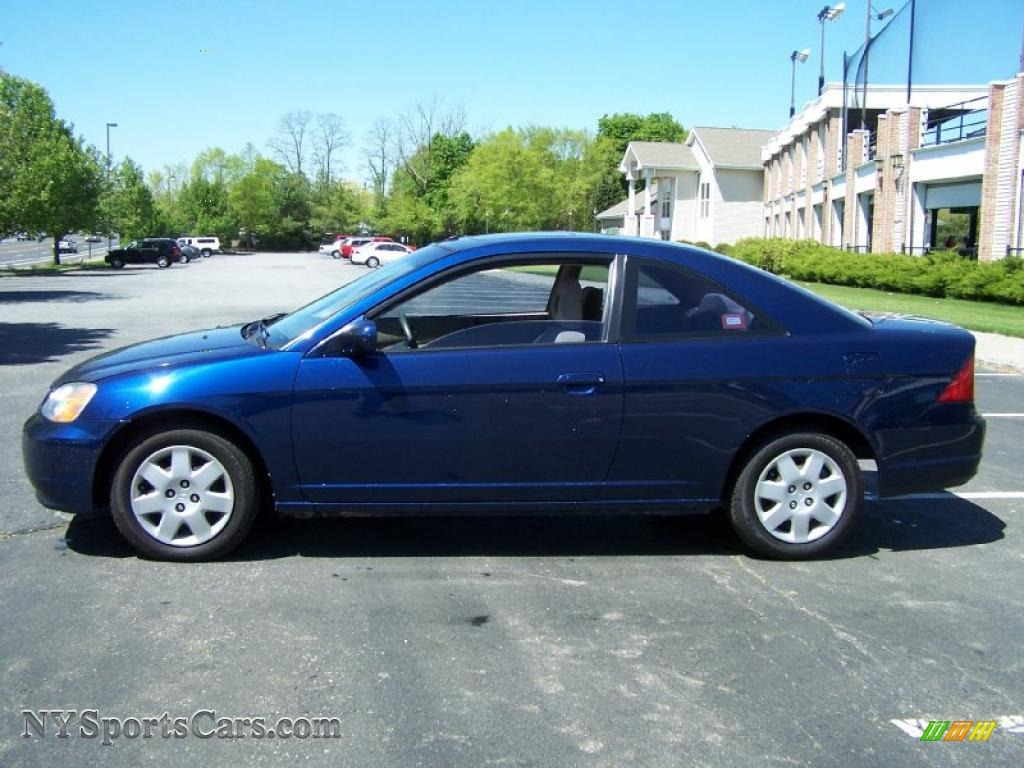 2002 honda civic ex coupe in eternal blue pearl photo 3. Black Bedroom Furniture Sets. Home Design Ideas