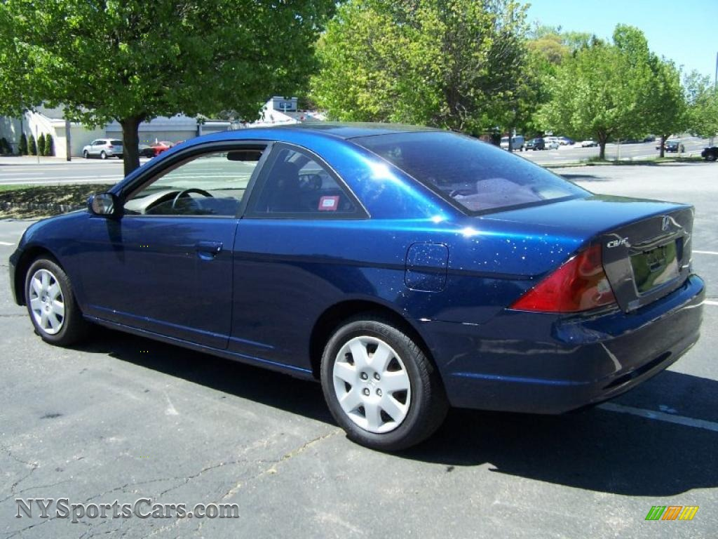 2002 honda civic ex coupe in eternal blue pearl photo 4. Black Bedroom Furniture Sets. Home Design Ideas
