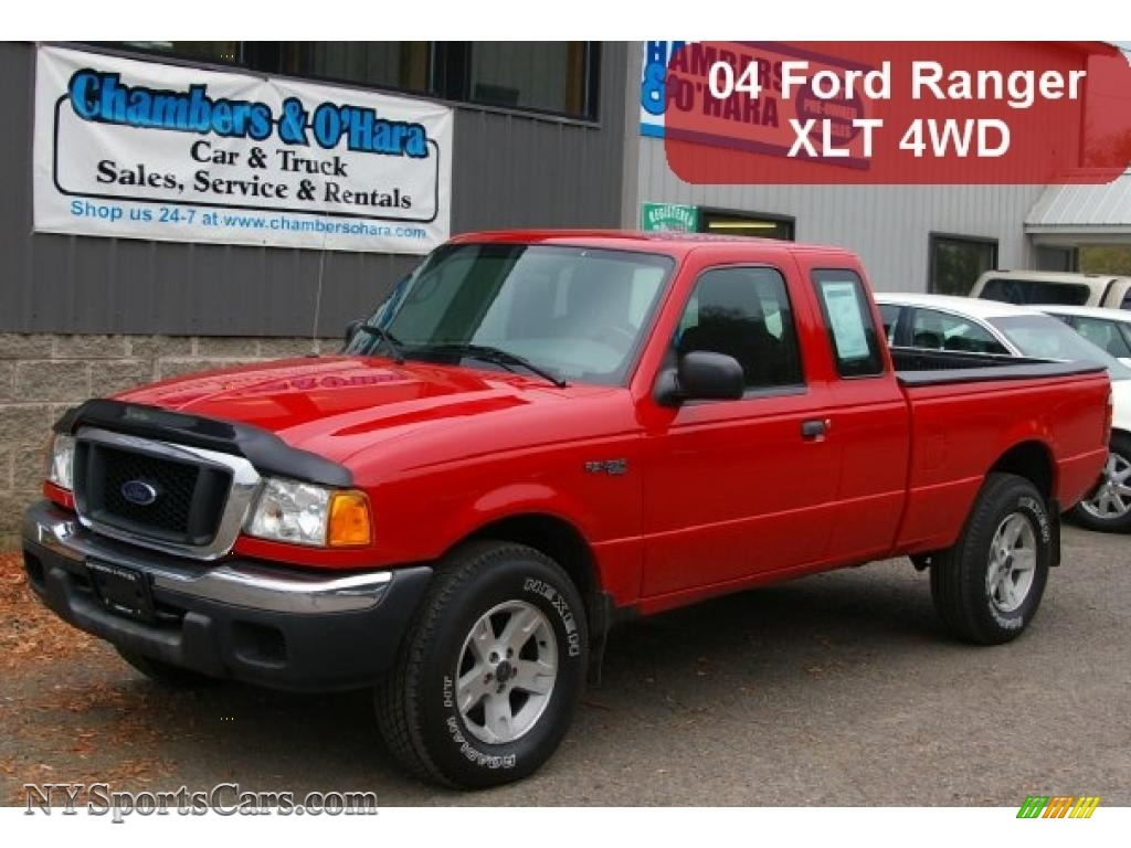2004 ford ranger xlt supercab 4x4 in bright red b37488 cars for sale in. Black Bedroom Furniture Sets. Home Design Ideas