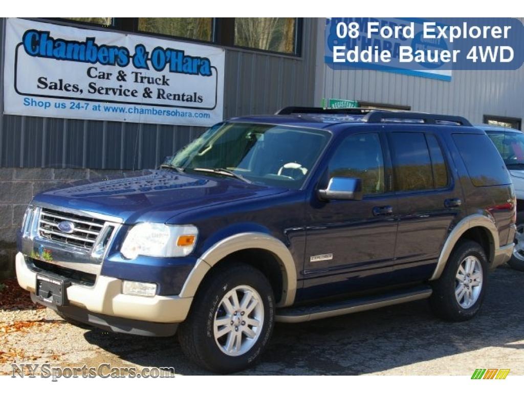 Dark Blue Pearl Metallic Black Camel Ford Explorer Ed Bauer 4x4